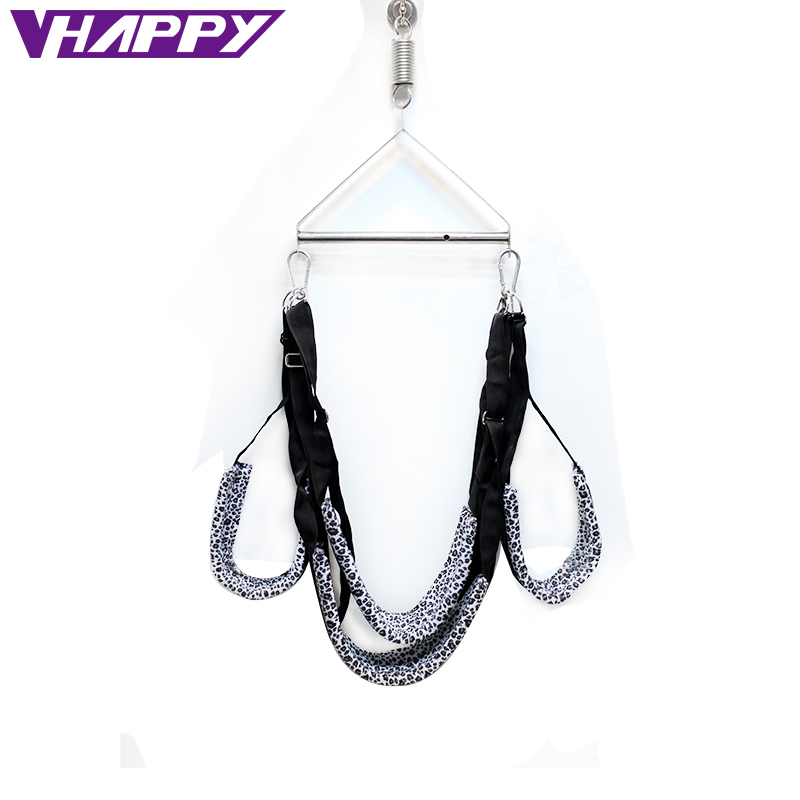 SM Nylon Sponge Leopard Door Swing Chairs Without Tripod <font><b>adult</b></font> Toy new Bondage <font><b>Sex</b></font> Swing <font><b>Sling</b></font> Tool Sexual Furniture VP-A002003A image
