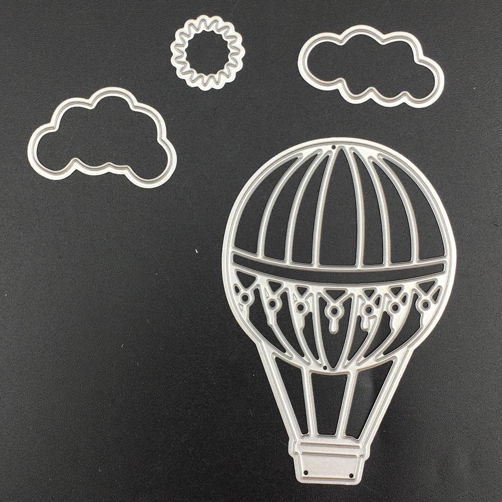 Hot Air Balloon Cutting Dies Stencil DIY Scrapbooking Album Paper Card Embossing
