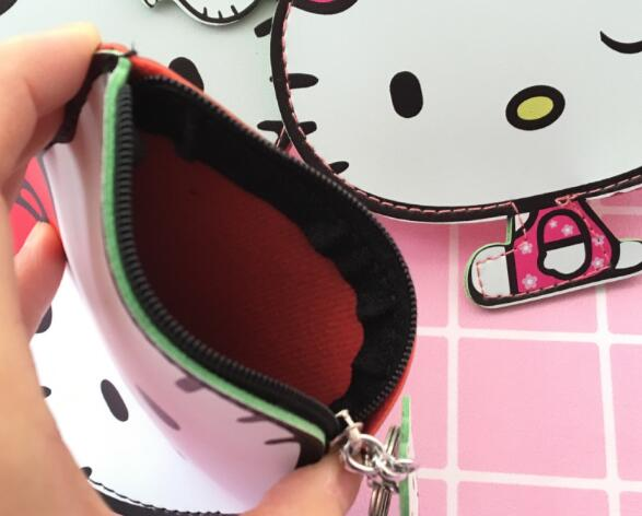072ec24ae57a 10pcs hello kitty PU wallet Keychain Cute Key Ring Cover Holder Hadbag Bag  Women Men Kids Cat Jewelry Gift-in Key Chains from Jewelry   Accessories on  ...