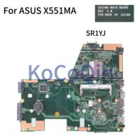 KoCoQin Laptop motherboard For ASUS D550M F551M X551MA Mainboard REV.2.0 SR1YJS