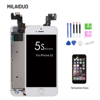 AAA Quality Full Set Assembled LCD Touch Screen Digitizer For IPhone 5s Home Button Front Camera