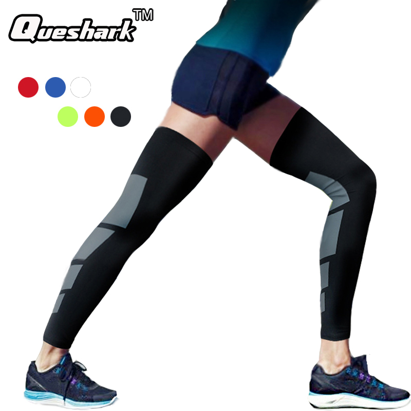 1 Pair Super Elastic Lycra Basketball Leg Warmers Calf Thigh Compression Sleeves Knee Brace Soccer Volleyball Cycling Knee Pads