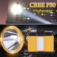 Superbright cree p50 led usb rechargeable headlamp highpower searchlight flashlight for fishing hunting camping
