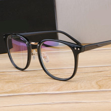 Metal Leg Vintage Eyeglasses Frame Newest Oversize Glasses Frames Women Men Fake Plain Glasses Fashion Eyewear For Woman man