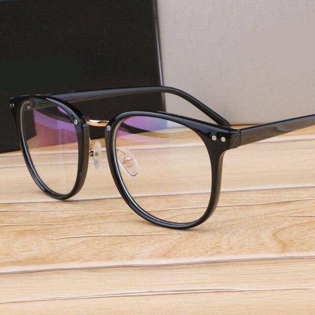 3d3cecc56fb Metal Leg Vintage Eyeglasses Frame Newest Oversize Glasses Frames Women Men  Fake Plain Glasses Fashion Eyewear For Woman man
