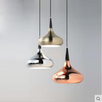 Nordic Restaurant Chandelier Single Modern Simple Led Dining Room Bar Creative Personality Iron Wang Spreads Lighting