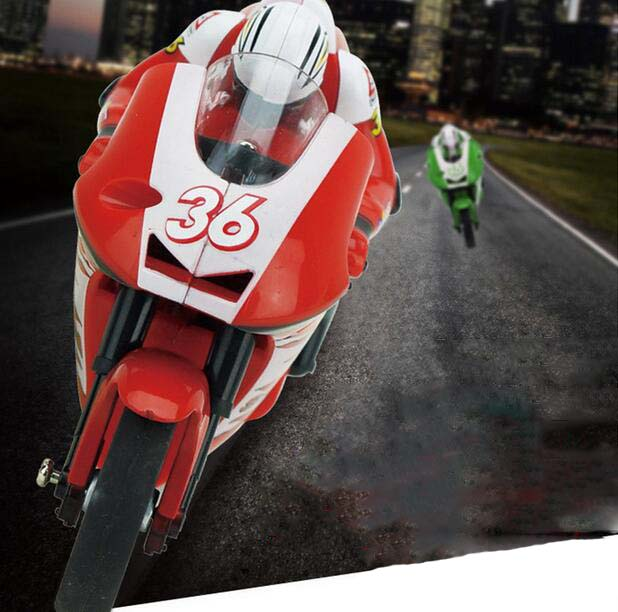 3CH 2.4G 1:20 High Speed Stunt Mini Red RC Remote Control Racing Motorcycle BIKE RTR Motorcycle Stunt