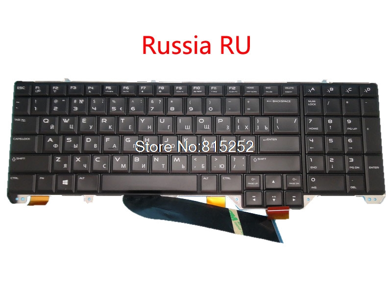 Laptop keyboard For DELL For Alienware 17 R1 M17X R5 Swiss SW Italy IT Russia RU