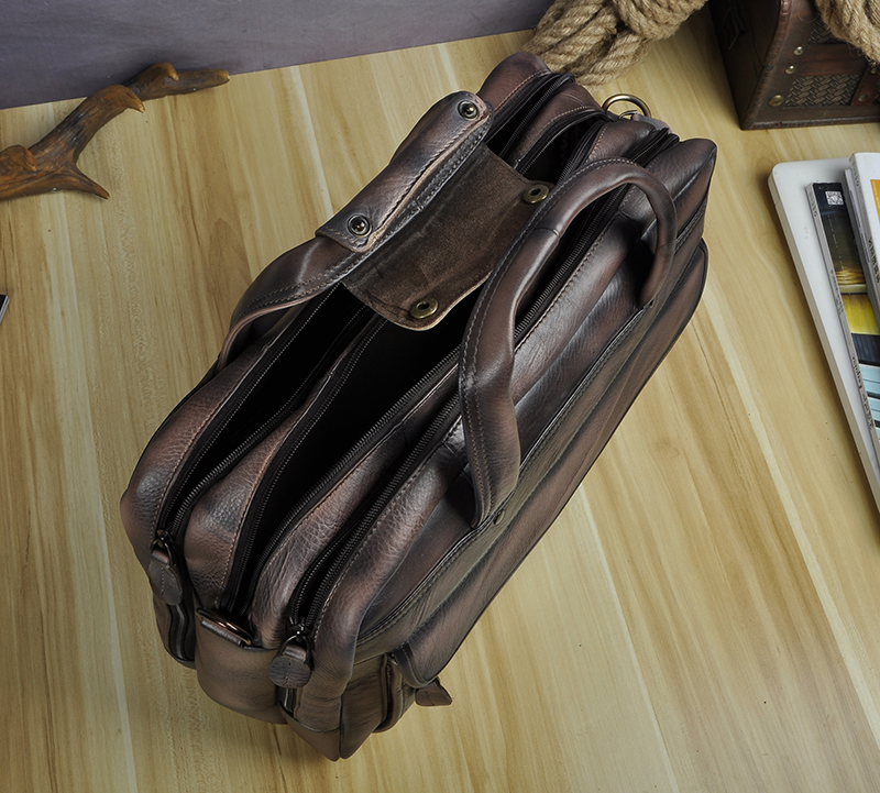 HTB1.QPWX0fvK1RjSspoq6zfNpXa2 Men Oil Waxy Leather Antique Design Business Briefcase Laptop Document Case Fashion Attache Messenger Bag Tote Portfolio 7146
