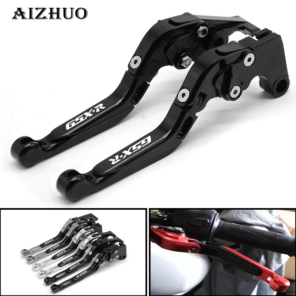 For SUZUKI GSXR GSX-R 600 750 1000 K1 K2 K3 K4 K5 K6 K7 K8 K9 Motorcycle Accessories CNC Adjustable Folding Brake Clutch Levers high quality cnc aluminum motorcycle adjustable brake clutch levers for suzuki sv650 s 99 09 dl650 v strom 04 10 600 750 katana page 8