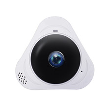 HD1080P Wi-Fi беспроводной ночного инфракрасный Камера 360 градусов панорамный VR Камера 1.3MP Fisheye Умное видеонаблюдение Камера Поддержка карты памяти