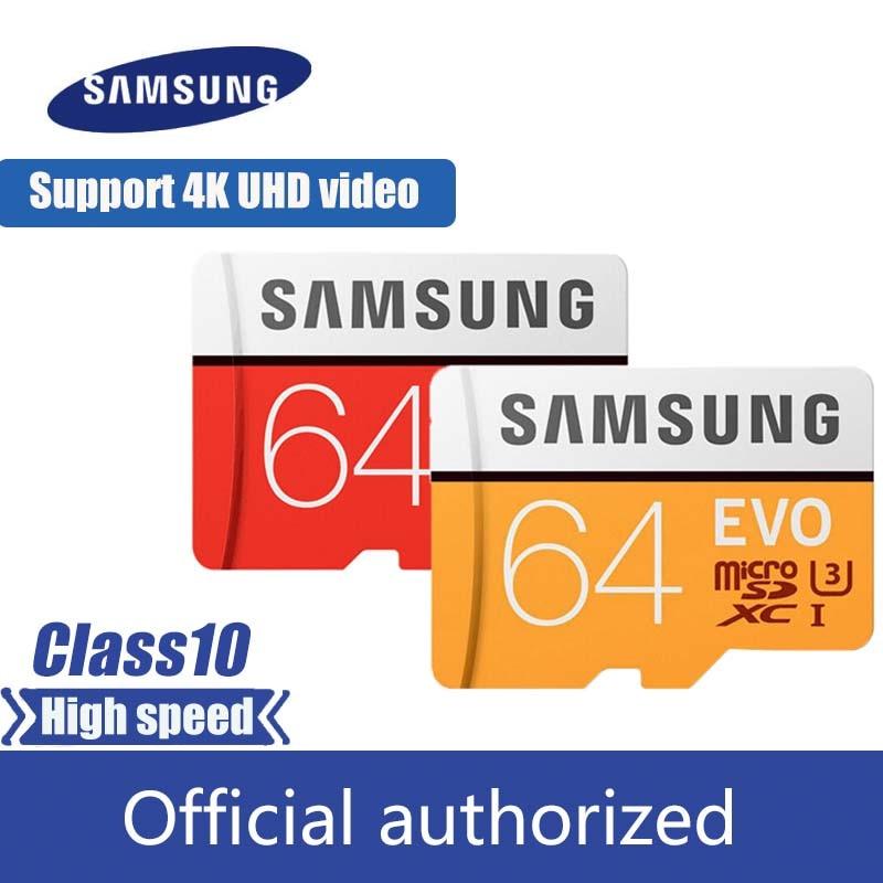 Samsung Micro Sd Card 32GB 64GB 128GB 256GB Flash Memory Card 100MB/s  SDHC SDXC Class10 UHS-I U3 4K TF Card 100% Original