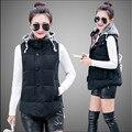 New Arrival Fashion Cotton Vest Women's Outerwear Hooded Waistcoat Female Coat Casual Jacket Women Vest Plus Size M-6XL C1188