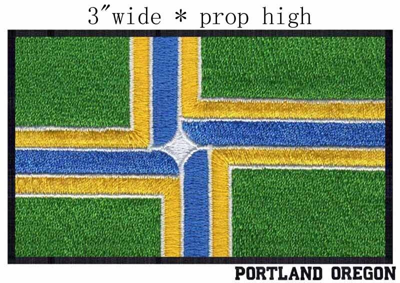 Портленд, штат Орегон флаг США 3 широкий вышивка патч для Военная патч/Каратель патч