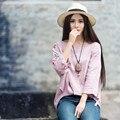 Las mujeres Más El Tamaño Irregular Flojo Bordado Cuello Redondo Blusa Primavera Y el Verano Nueva Moda Estilo Étnico Camisas Tops
