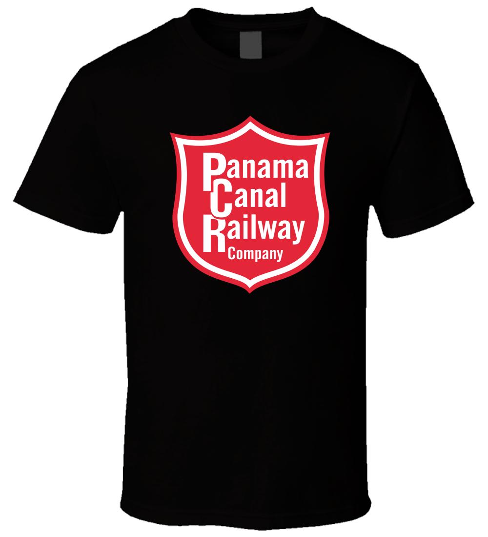Panama Canal Railway 1 Black Men Comfortable Cotton T Shirt Size S - 5XL
