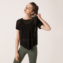 Summer Women Yoga Shirts Quickly Dry Loose T-shirt sweatshirts Top Running Jogger Fitness Casual Athletic Shirt Sportswear
