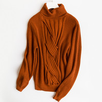2018 autumn and winter new cashmere sweater female Korean version of the high collar fashion loose solid color sweater