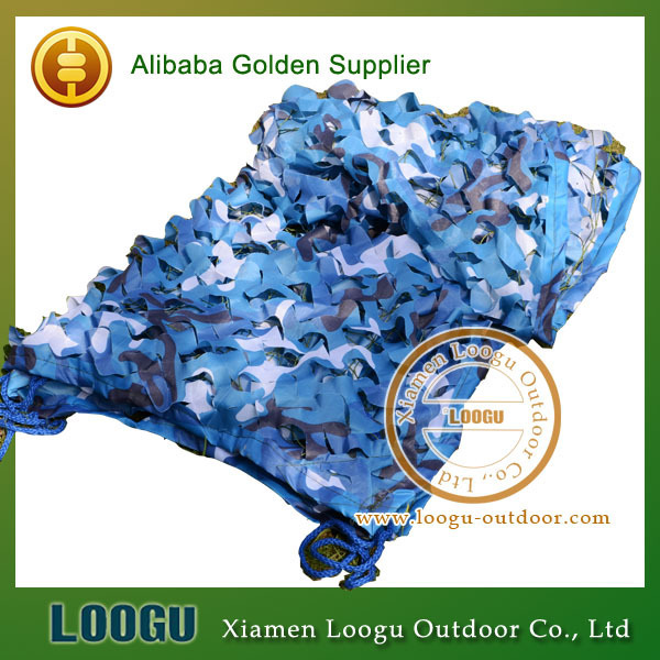 VILEAD 4M*4M Sea Blue Camo Netting Military Camo Netting Army Camouflage Jungle Net Shelter  for Hunting Camping Sports Tent