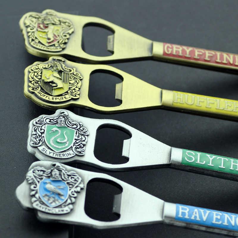 Fei мужские ювелирные изделия Хогвартс открывалка для бутылок брелок Слизерин Гриффиндор Hufflepuff Ravenclaw школьный значок брелок для ключей для мужчин