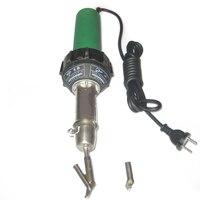 220 В 1500 Вт горячего воздуха Пластик сварщика, сварочные факел Tool Kit + 4 шт. Скорость сварки насадки + ролик ЕС Разъем для пайки