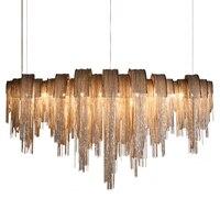 Современная роскошь кисточкой Led люстра цвет серебристый, Золотой Алюминий цепи G9 люстра лампы Lamparas блеск новый Дизайн Hanglamp
