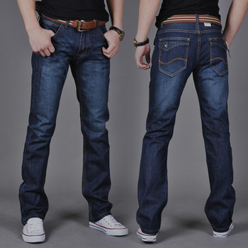 Denim Skinny Trousers Cotton Classic Straight Jeans