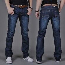 9c19a02ec45 Бренд мужские джинсы 2018 модные Повседневное Мужской Джинсовые штаны узкие  джинсы хлопок классический Прямые джинсы Высокое