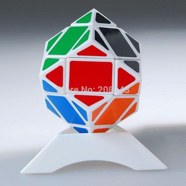 Lanlan Skewb blanco romboedro 3 x 3 x 3 cubo mágico Diamond Puzzle cubo de la velocidad