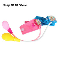 Simulation Family Doctor Toy Small Nurse Mini Blood Pressure Meter Medical Baby Boys Girls Funny Game Cosplay Pretend Play Toys