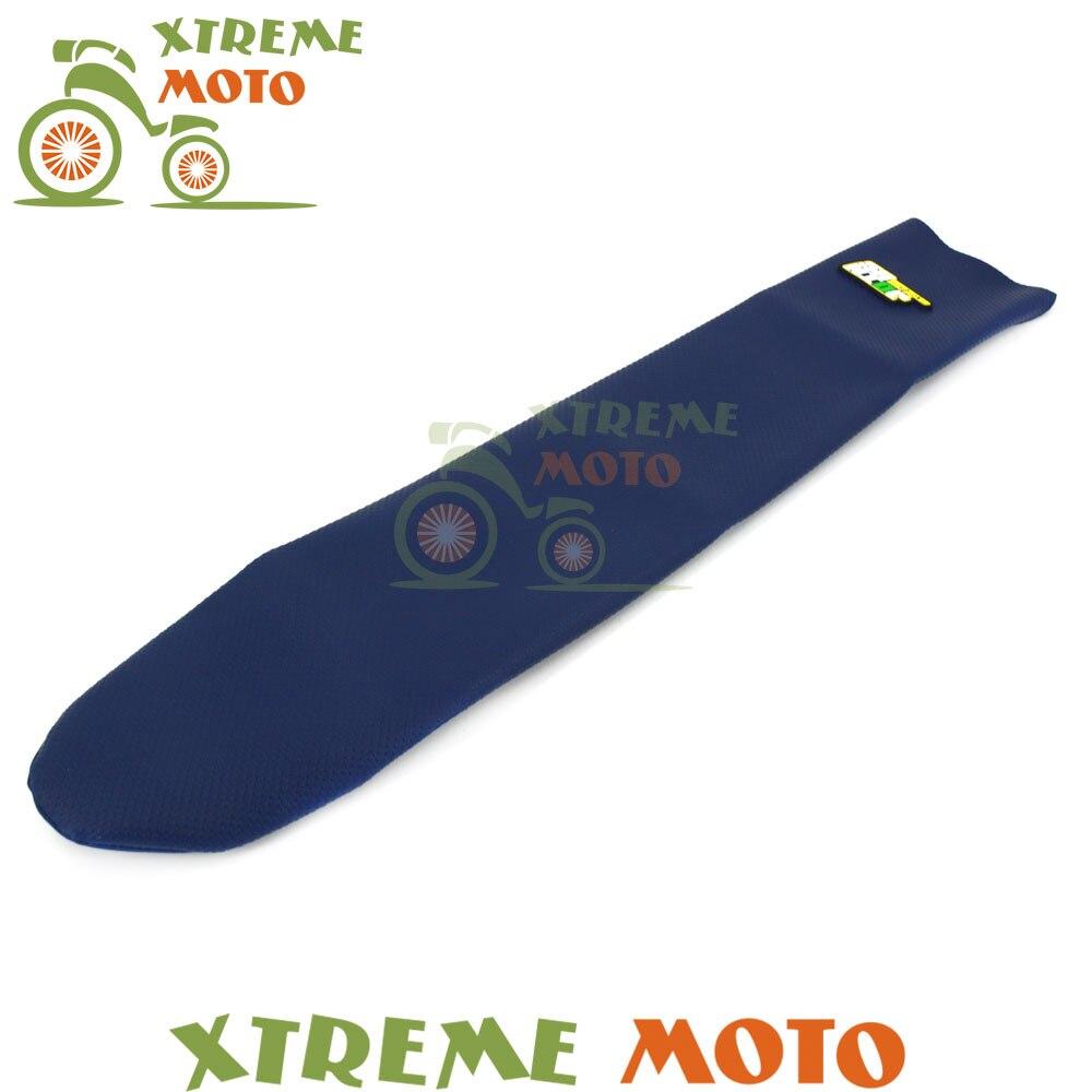 Bleu moto caoutchouc vinyle pince souple housse de siège pour Husaberg 2 Storke 2009-2014 09 10 11 12 13 14 Motocross Dirt Bike