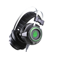 PC Game Headphones E sports Game Earphone Gaming Gamer LED Light Hi Fi Stereo Headset with Mic for Computer Laptop Internet Cafe