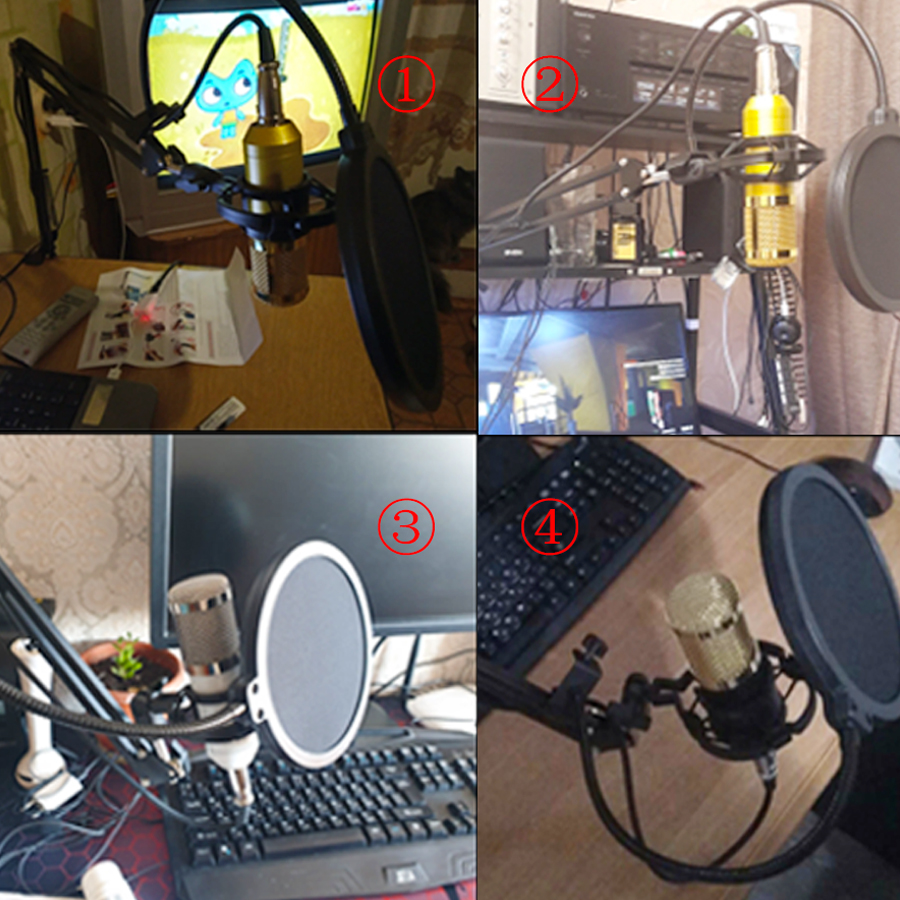 Profissional microfone bm 800 karaoke microfone condensador