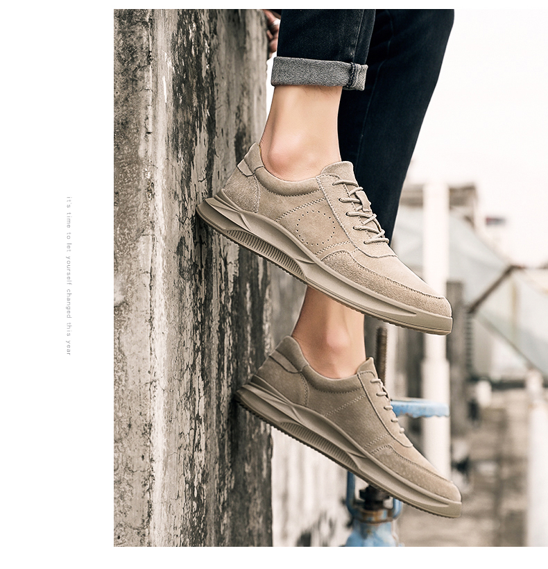 Genuine Leather unisex Suede sneakers 4