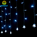 Outdoor Christmas Decoration 2*0.6M 60 Leds Curtain Light Garland Fairy Lights for Xmas Tree Home Party Wedding Holiday String