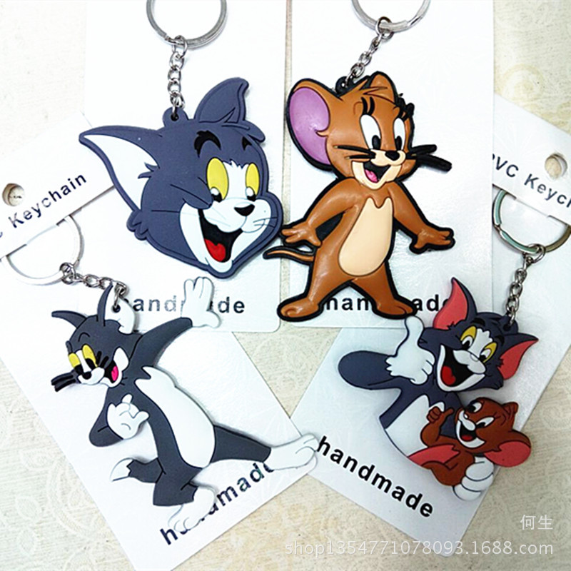 Cartoon Figures Keychain Action-Figure-Model Pvc-Collection Tom-And-Jerry-Anime IVYYE