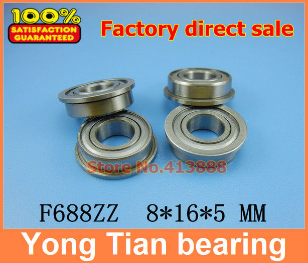 (1pcs) flange bearing Thin wall deep groove ball bearings F688ZZ 8*16*18*5*1.1 mm free shipping carbon fiber id 61mm motorcycle exhaust pipe with laser marking exhaust for large displacement motorcycle muffler