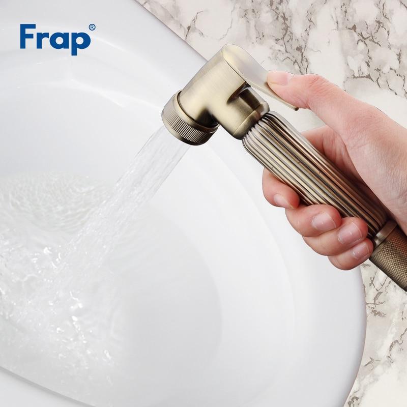 Frap Retro Stil Solide Messing Wc Handheld Bidet Spray Dusche Sprayer Bronze Abdeckung Tragbare Sitz WC Asiento Wasserhahn Handhelds F24-4
