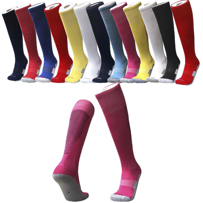 Top Quality Men's Sports Long And Thick Football Socks Children Durable Adults Basketball Thickening Soccer Socks Og-05