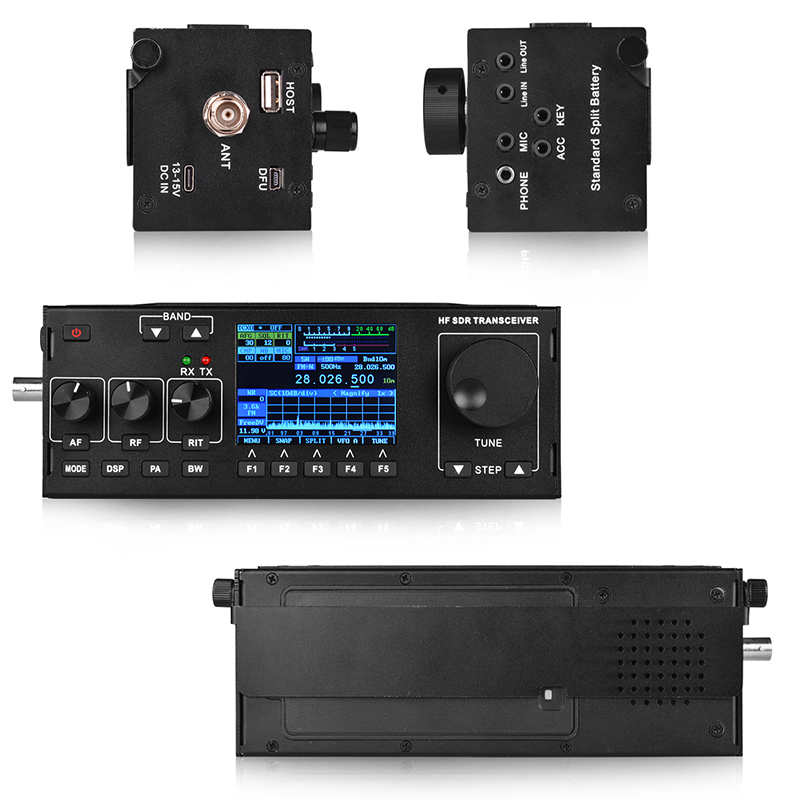 Image 3 - New Arrival RS 978 SSB HF SDR HAM RADIO 1.8 30MHz SSB HF Transceiver with 3800mah li ion battery packWalkie Talkie   -