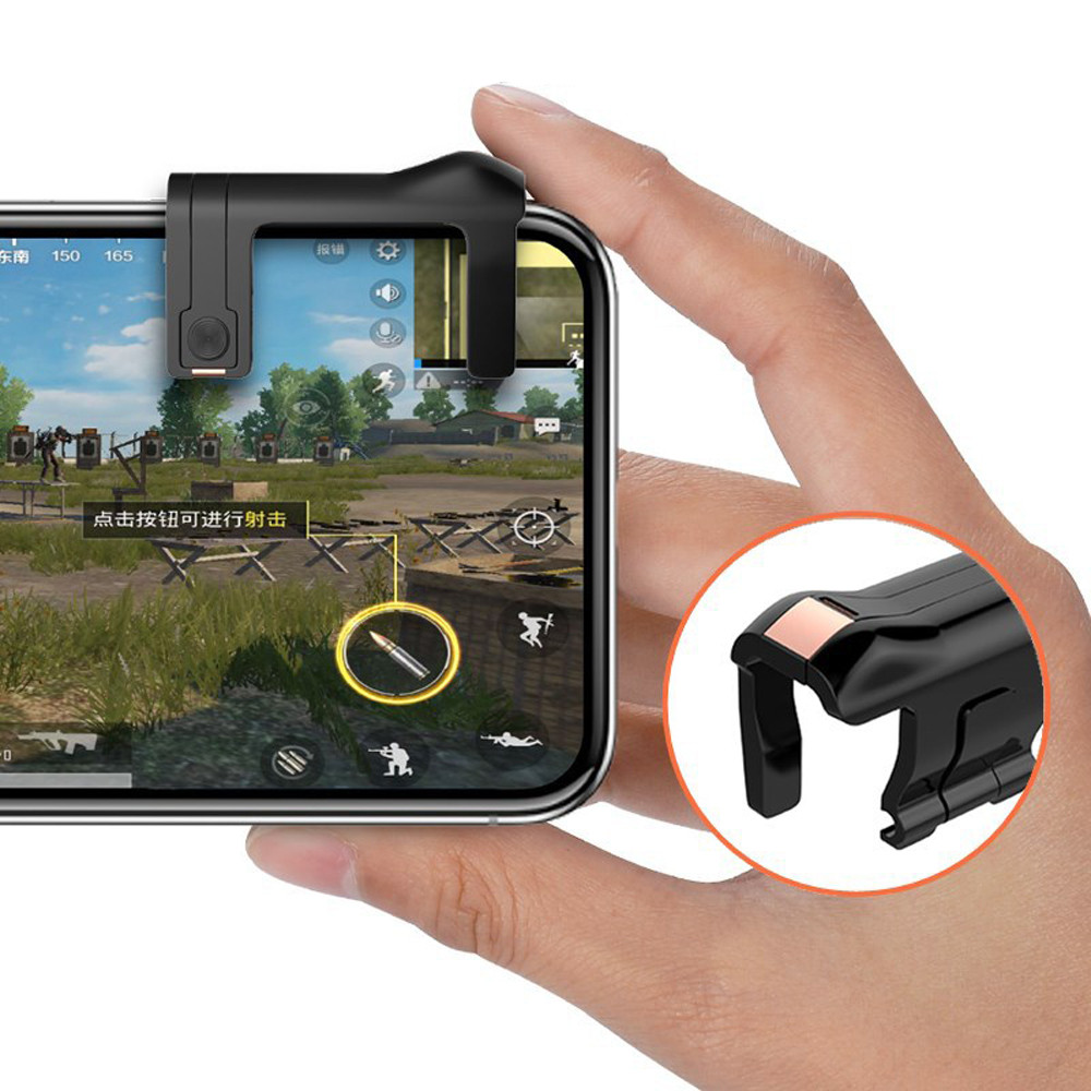 ᗖphone Mobile Gaming Trigger Fire Button Handle For L1r1 Shooter