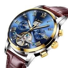 LIGE New Men Watches Top Brand Luxury Men's Mechanical Watch Man Multifunction Waterproof Fashion Sports Clock Relogio Masculino