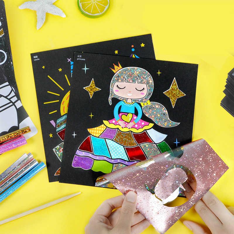 Children Magic Color Paper Diy Art Craft Toy Kids Creative