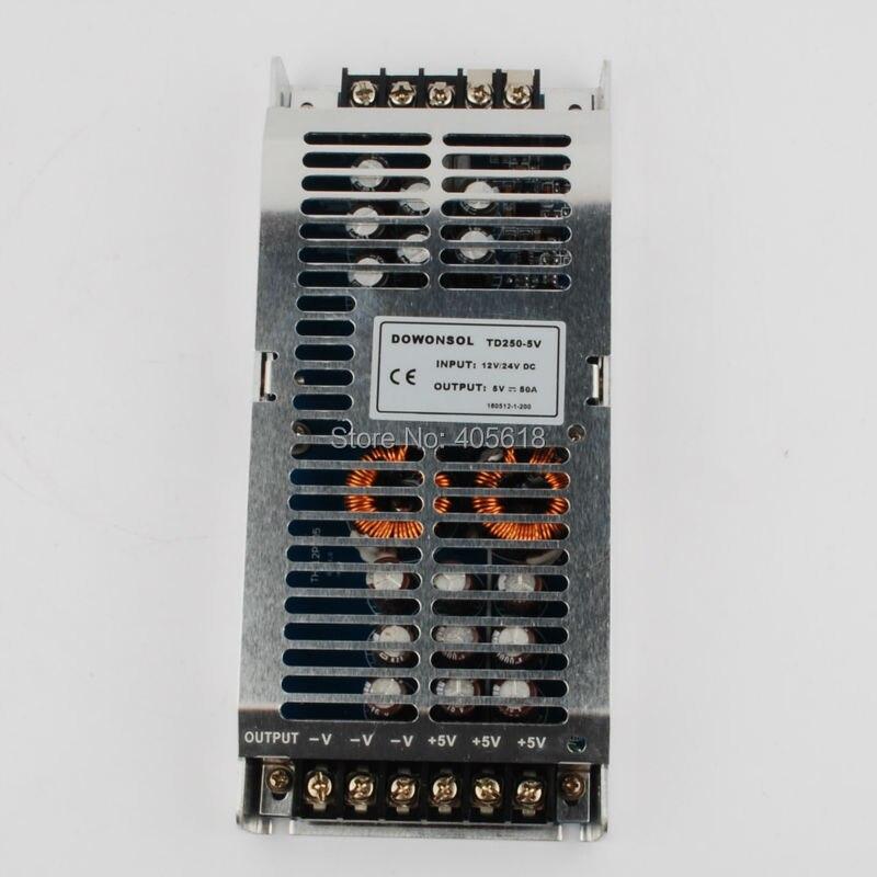 5 V 250 W DC convertisseur DC 12 V/24 V (8 V-40 V) abaisseur à 5 V 50A 250 W 12 V à 5 V 24 V à 5 V pour l'affichage de LED