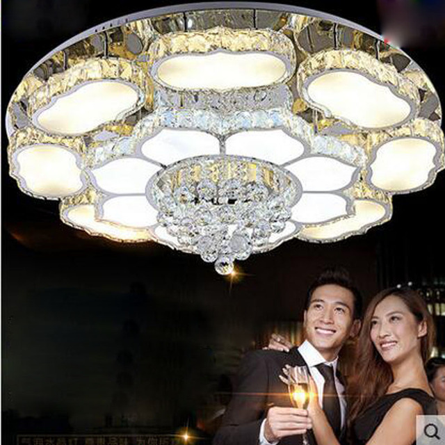 aliexpress koop kristallen lamp ronde woonkamer lamp