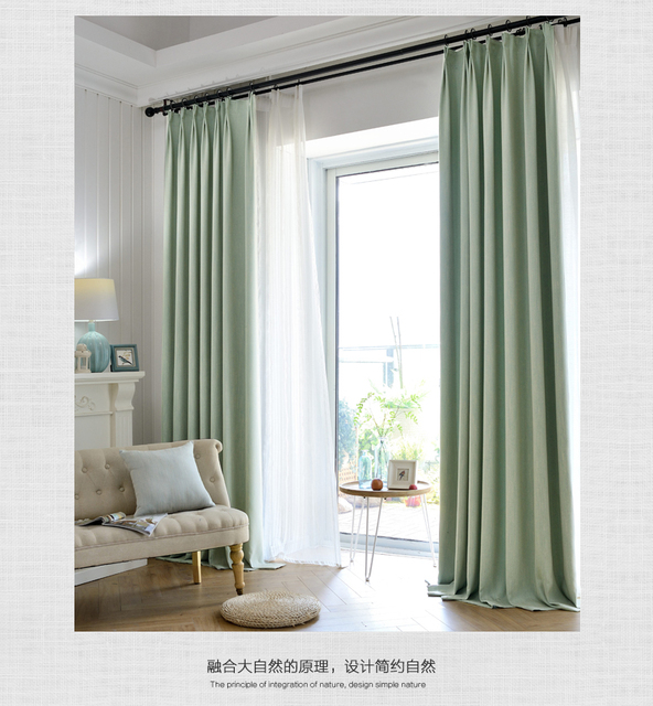 moderne minimalistische effen kleur gordijnen stof woonkamer slaapkamer den dikke verduisteringsgordijnen