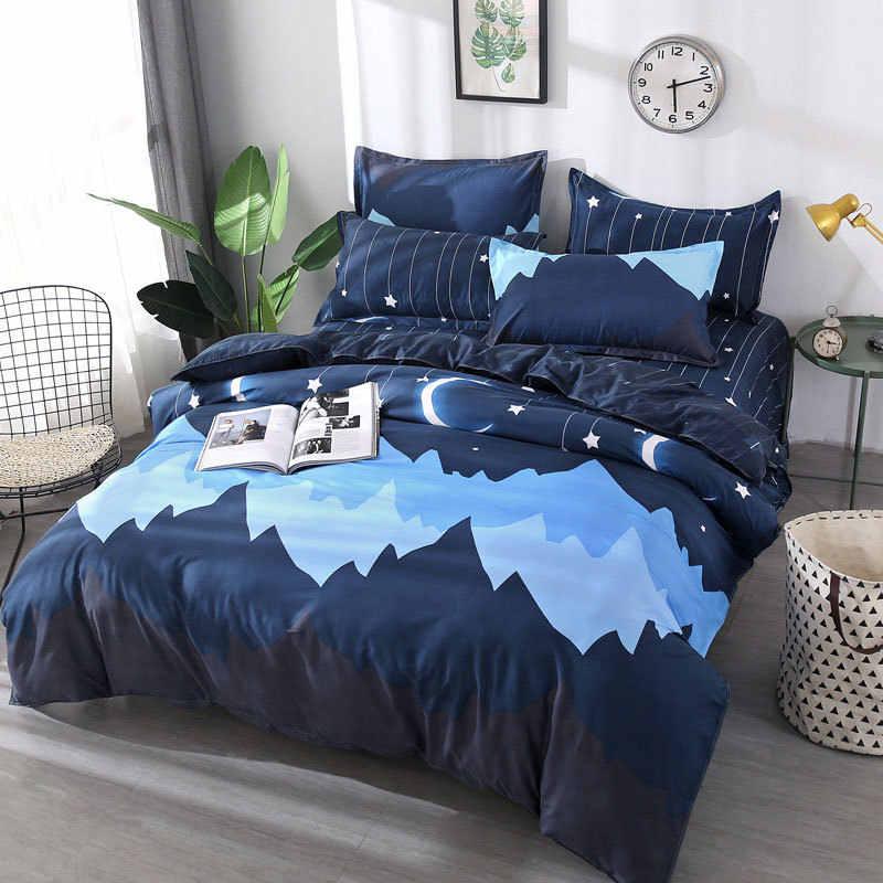 Funda de cama de dibujos animados de gato 4 Uds chico juego de edredón de dibujos animados para adultos y niños sábanas y fundas de almohada juego de cama 40