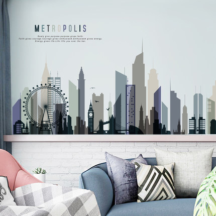 Modern City Posters And Prints Wall Sticker Paintings For Living Room Bedroom Wall Pictures Wall Art