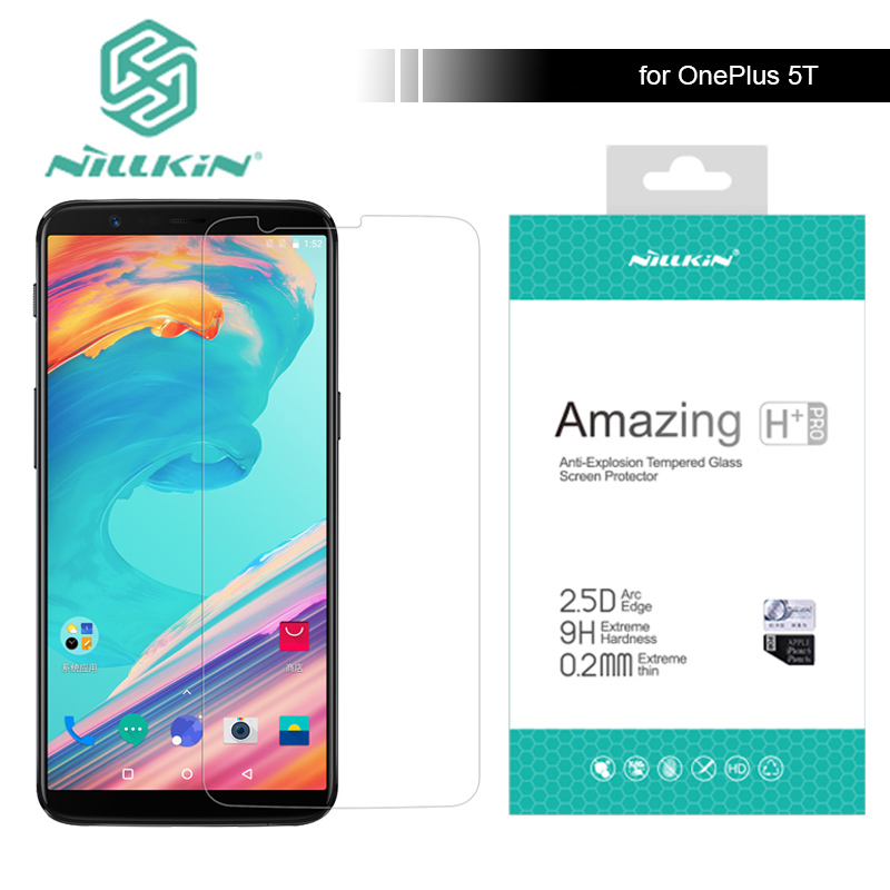 for Oneplus 5T Nillkin 9H Amazing H / H+ Pro 6.01 inch Tempered Glass Screen Protector For Oneplus 5T One Plus 5T Nilkin Glass