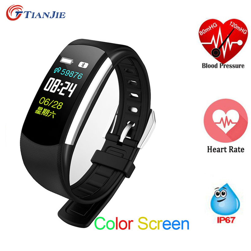 a99784e14 Smart Bracelet C4 Watch Women Men Sport Fitness Tracker Band Heart Rate  Blood Pressure Monitor Wristband Clock for Android IOS